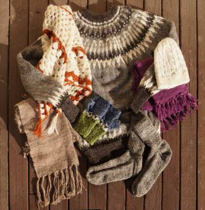 Hand-spun and hand-knitted garments